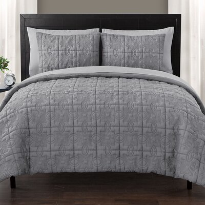 Glenwood Bed in a Bag Set Size: Twin, Color: Gray