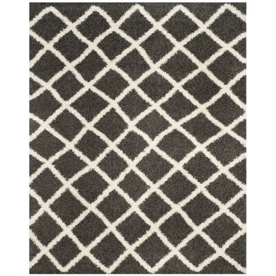 Laurelville Shag Dark Gray/Ivory Area Rug Rug Size: Rectangle 3 x 5