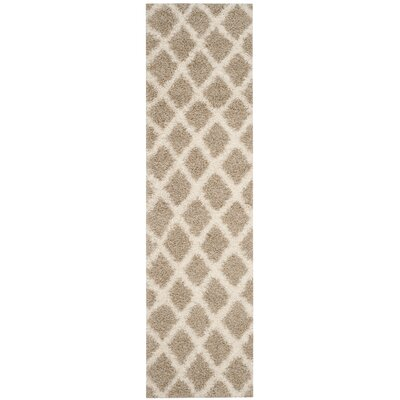 Laurelville Shag Beige/Ivory Area Rug Rug Size: 6 x 9