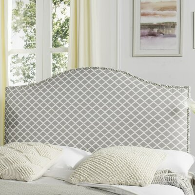 Carol Queen Upholstered Panel Headboard Upholstery: Gray & White