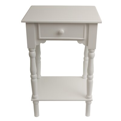 Eagan End Table Color: Satin White