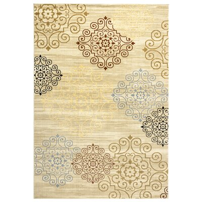 Greenside Khaki Area Rug Rug Size: 53 x 77