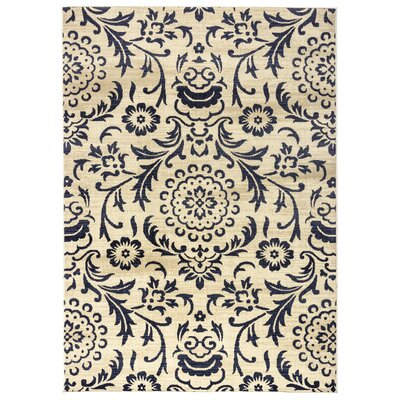 Greenside Ivory Area Rug Rug Size: Rectangle 53 x 77