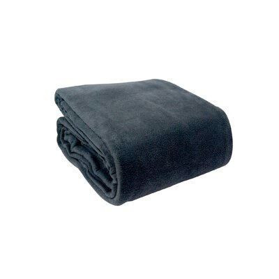 Pencewood Fleece Blanket Size: King, Color: Denim