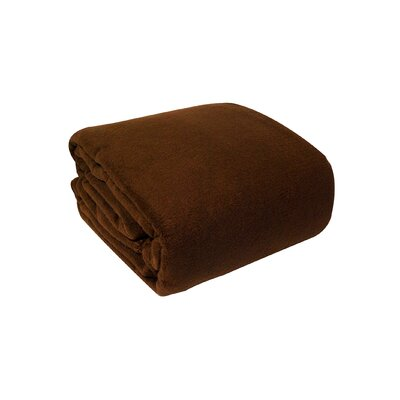 Pencewood Fleece Blanket Color: Chocolate, Size: Full / Queen