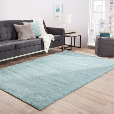 Windridge Hand Woven Aruba Blue/Silver Area Rug Rug Size: Rectangle 8 x 10