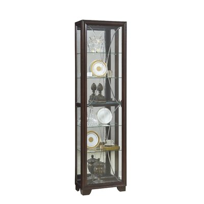 Anaya Lighted Curio Cabinet