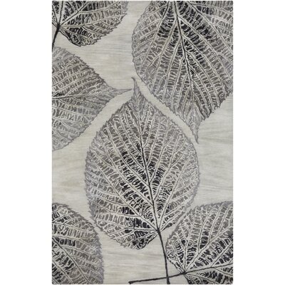 Anders Gray Floral Area Rug Rug Size: Rectangle 33 x 53
