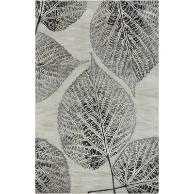 Anders Gray Floral Area Rug Rug Size: Rectangle 5 x 8