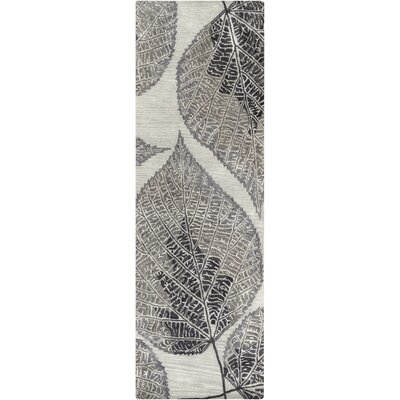 Anders Gray Floral Area Rug Rug Size: Runner 26 x 8