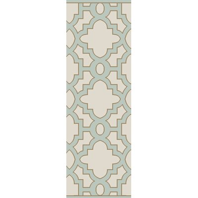 Laurita Hand-Tufted Cream Area Rug Rug Size: 26 x 8