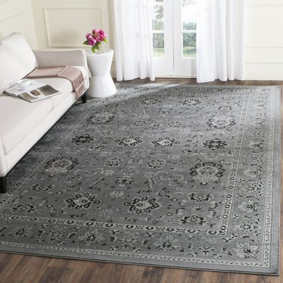 Bainsby Dark Gray / Light Gray Area Rug Rug Size: 51 x 77
