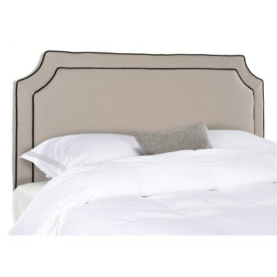 Cloverdale Upholstered Panel Headboard Size: Full, Upholstery: Charcoal Brown