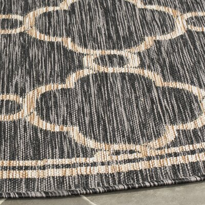 Rockbridge Natural/Black Indoor/Outdoor Area Rug Rug Size: Rectangle 2 x 37