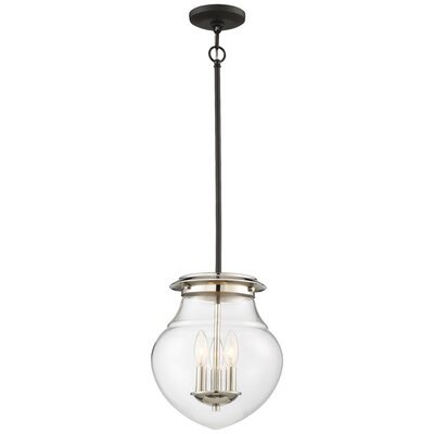 Behne 3-Light Bowl Pendant
