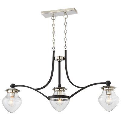 Bachus 3-Light Kitchen Island Pendant