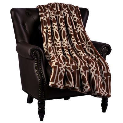 Beltway Microfiber Flannel Blanket Color: Pinecone