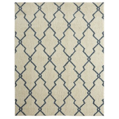 Dumbarton Interlocked Lines Beige Area Rug Rug Size: Rectangle 8 x 10