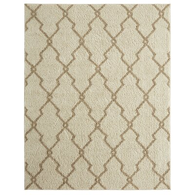 Dumbarton Interlocked Lines Beige Area Rug Rug Size: 8 x 10