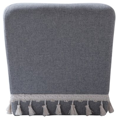 Belvidere Accent Ottoman Upholstery: Light Gray