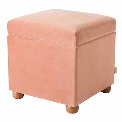 Bement Storage Ottoman Upholstery: Orange