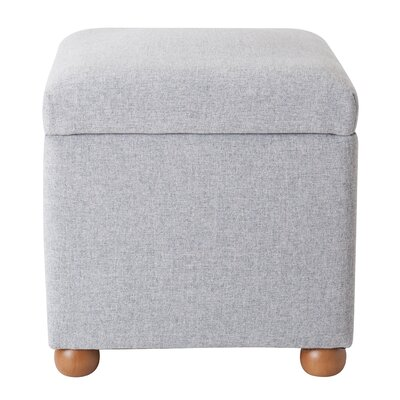 Bement Storage Cube Ottoman Upholstery: Light Gray