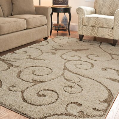 Henderson Beige/Cream Area Rug Rug Size: Square 4'