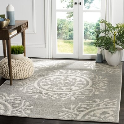 Princetown Light Gray Area Rug Rug Size: Rectangle 33 x 53