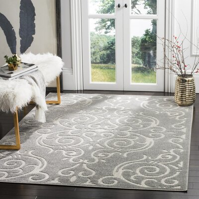 Prussia Gray Area Rug Rug Size: Rectangle 53 x 77