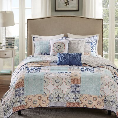 Elijah 6 Piece Reversible Coverlet Set Size: King/California King
