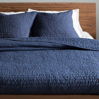 Hessville Cotton Quilt Size: Twin, Color: Navy