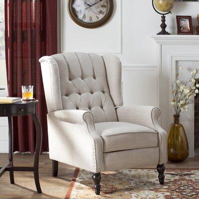 Henley Recliner Upholstery: Beige Fabric