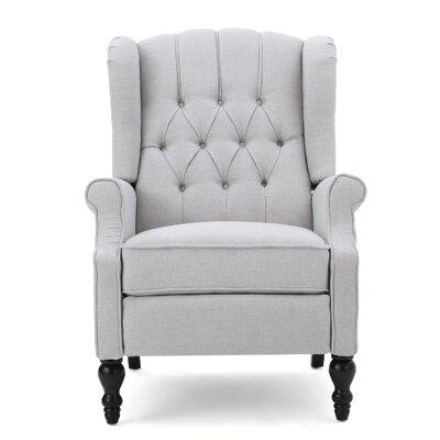 Henley Manual Recliner Upholstery: Light Gray