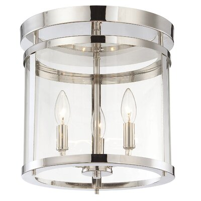 Aldergrove 3-Light Flush Mount Finish: Polished Nickel
