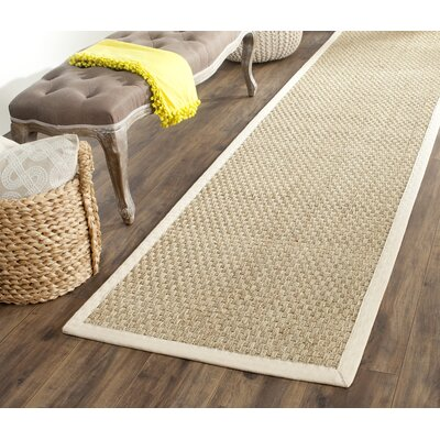 Catherine Hand-Woven Natural Area Rug Rug Size: Runner 26 x 18