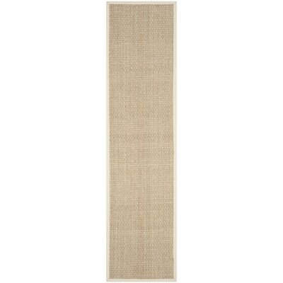 Catherine Natural/Ivory Area Rug Rug Size: Runner 26 x 16