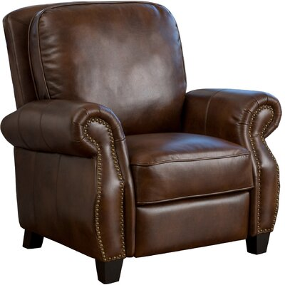 Mullins Faux Leather Recliner Upholstery: 2-Tone Brown