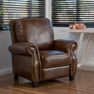 Mullins Manual Recliner Upholstery: 2-Tone Brown