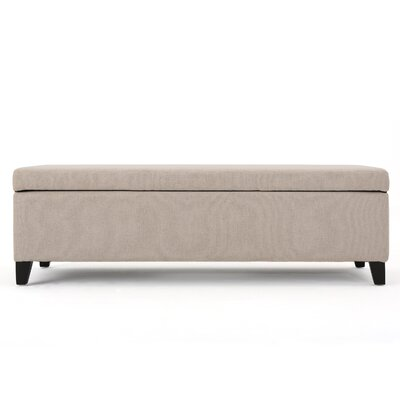 Overbey Fabric Storage Ottoman Upholstery: Cream