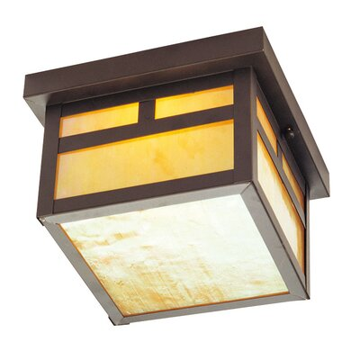 Giles 2-Light Flush Mount Size: 5.5 H x 8 W, Finish: Bronze