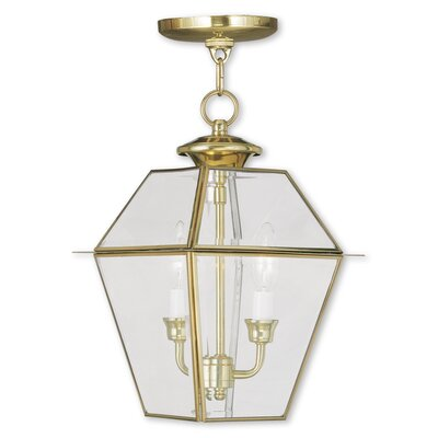 Fulmore 2-Light Outdoor Hanging Lantern Finish: Polished Brass