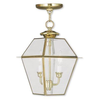 Fulmore 2-Light Outdoor Hanging Lantern Finish: Polished Brass