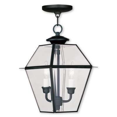Fulmore 2-Light Outdoor Hanging Lantern Finish: Black