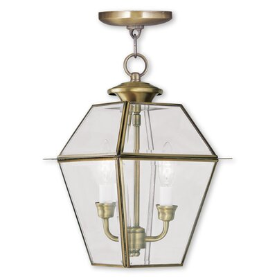 Orchard Lane Foyer Pendant Finish: Antique Brass, Size: 15 H x 9 W