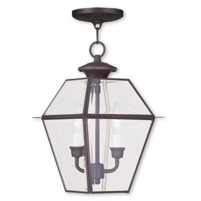 Orchard Lane Foyer Pendant Finish: Bronze, Size: 15 H x 9 W