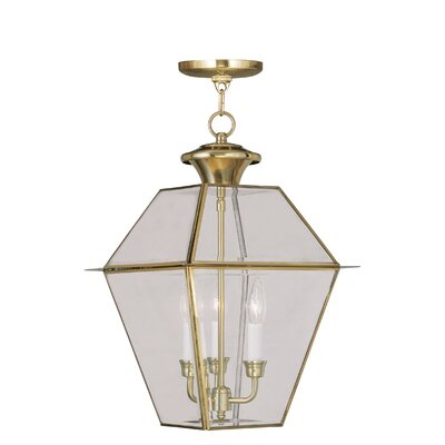 Orchard Lane Foyer Pendant Size: 19 H x 12 W, Finish: Polished Brass