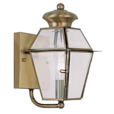 Fulmore 1-Light Outdoor Sconce Finish: Antique Brass