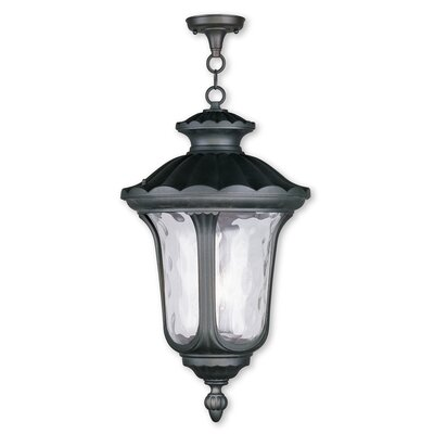 Glenn 3-Light Foyer Pendant Finish: Black