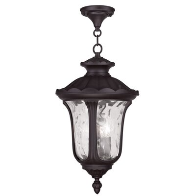 Gurnee 3-Light Foyer Pendant Size: 17.5 H x 9.5 W, Finish: Bronze