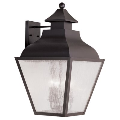 Gahagan 4-Light Wall Lantern Finish: Bronze